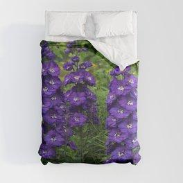 Blue Delphinium Comforters