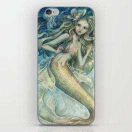 mermaid with Flowers in her hair iPhone Skin