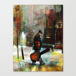 The guitarist Canvas Print