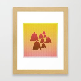Music in Monogeometry : Broken Bells Framed Art Print