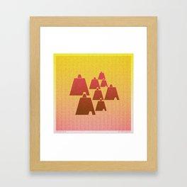 Music in Monogeometry : Broken Bells Framed Art Print