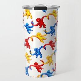 Monkey Toy Pattern Travel Mug