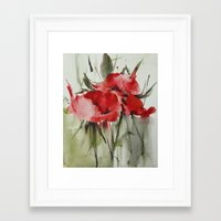 poppy Framed Art Prints featuring poppy# by beautifyprints