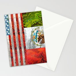 American Mexican flag Stationery Cards
