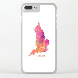 England map #england #map #englandmap Clear iPhone Case
