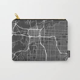 Kansas City Map, USA - Gray Carry-All Pouch