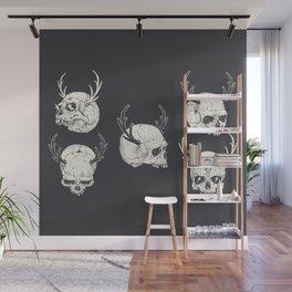 skulls & horns Wall Mural