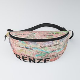 Florence Italy Illustrated Map with Roads Landmarks and Highlights Fanny Pack
