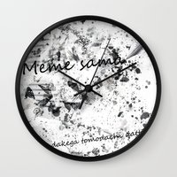 meme Wall Clocks featuring Meme sama by Anthony Hery