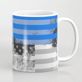 American Flag Pop Art Coffee Mug