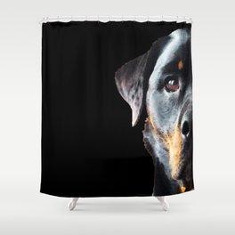 Rottie Love - Rottweiler Art By Sharon Cummings Shower Curtain