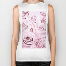 Pink Roses Flowers - Rose and flower pattern Biker Tank