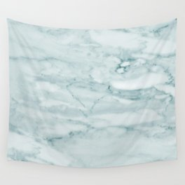 Marble Pale Teal Sea Green Marble Wall Tapestry