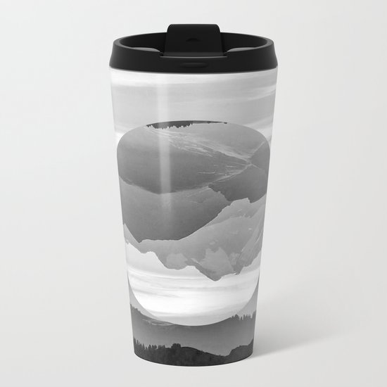 Geo Nature Mountains Metal Travel Mug