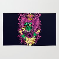 lsd Area & Throw Rugs featuring LSD Zombie star by Tshirt-Factory