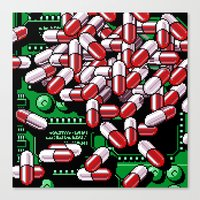 pills Canvas Prints featuring Pills by noirlac
