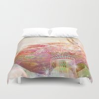 forever young Duvet Covers featuring Forever Young by Lisa Argyropoulos