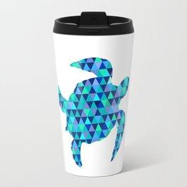 Mosaic Turquoise Sea Turtle Travel Mug
