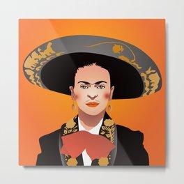 Frida charra Metal Print