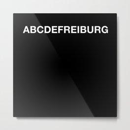 ABCDE Freiburg Metal Print