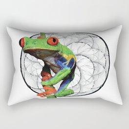 Rana de ojos rojos Rectangular Pillow
