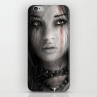 warrior iPhone & iPod Skins featuring Warrior by Justin Gedak