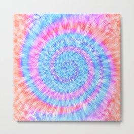 Tie Dye // Pastel Coral Metal Print