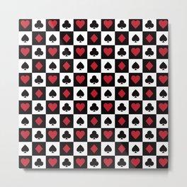 Card Pattern - Red Queen Metal Print