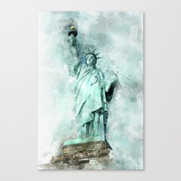 Statue of Liberty painting Canvas Print