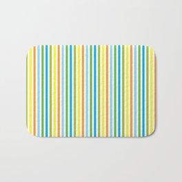 Colourful Pinstripes Bath Mat