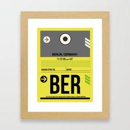 BER Berlin Luggage Tag 1 Framed Art Print