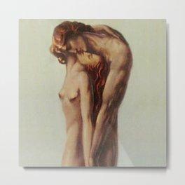 'Les Deux Amoureux au bout du Monde' Portrait Painting by Louis Rigal Metal Print