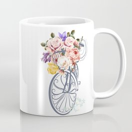 Cute design with bicycle and basket full of rose flowers Coffee Mug