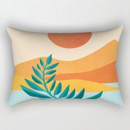 Mountain Sunset / Abstract Landscape Illustration Rectangular Pillow