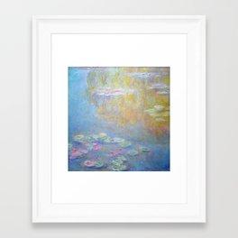 Monet water lilies 1908 Framed Art Print