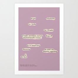 Blackout Poem {006.} Art Print