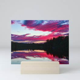 Purple skies and sunset over the Scituate Reservoir, Scituate, Rhode Island Mini Art Print