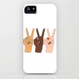 Peace Hands 3 iPhone Case