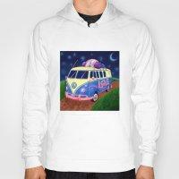 hippie Hoodies featuring Hippie Van by whiterabbitart
