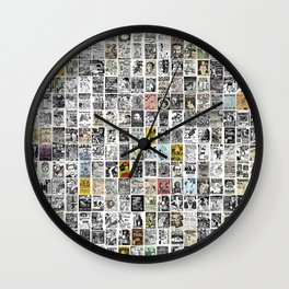 1980's Vintage Punk Flyers Wall Clock