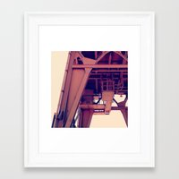 beast Framed Art Prints featuring beast by resonate