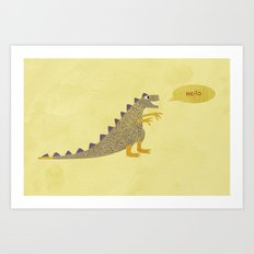Not a very scary dinosaur Art Print