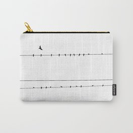 The Birds on the Line (Black and White) Carry-All Pouch