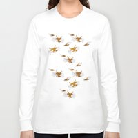 foxes Long Sleeve T-shirts featuring Foxes by Maren Celest