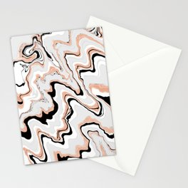 Liquified,marble effect decor Stationery Cards