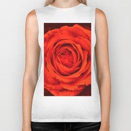 Vintage Rose,red Biker Tank
