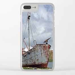 Whaling Ship with Gun Clear iPhone Case