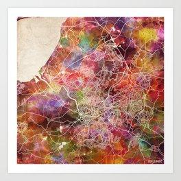 Bristol map Art Print