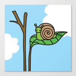 Sweet Snail Canvas Print