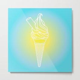 Ice Cream - Summer Sunshine Series Metal Print